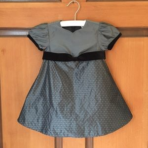 Hanna Andersson Gray/Black Fancy Dress 6-12 mos
